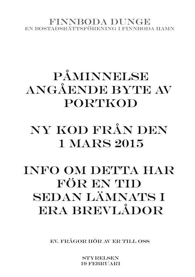 påminnelse