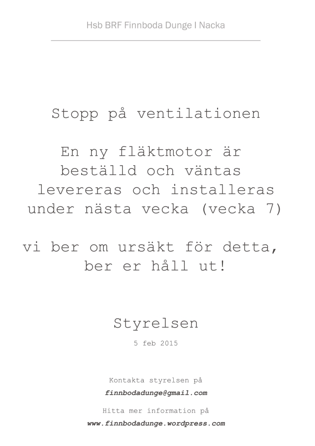 Stopp på vetelation