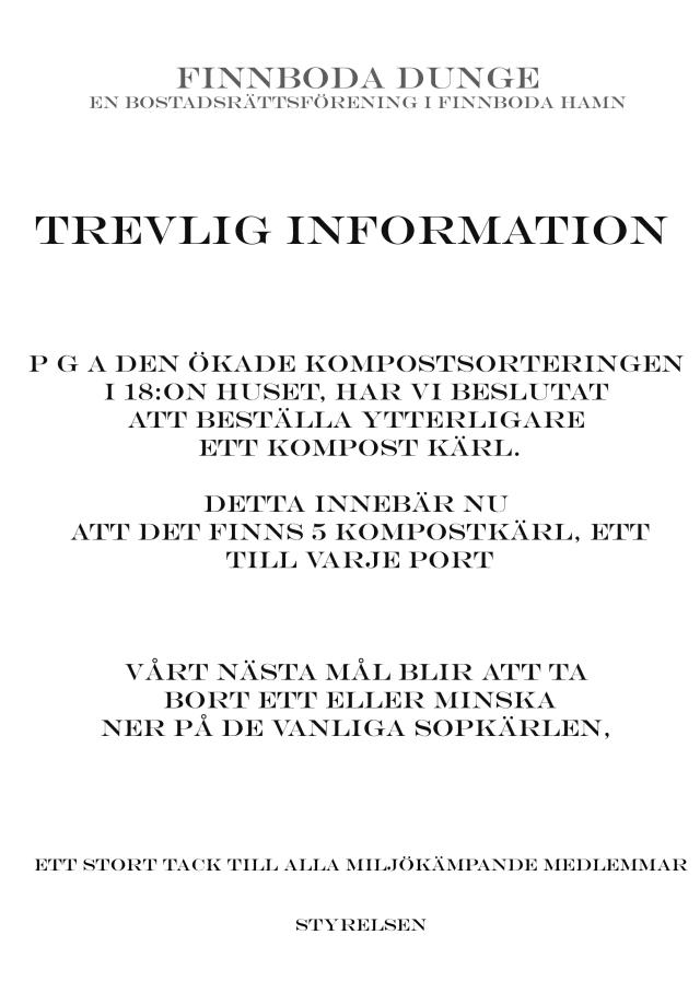 trevlig info